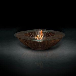 Glammfire Cosmo 13 - volně stojící bio krb v provedení zalakovaná rezavá ocel