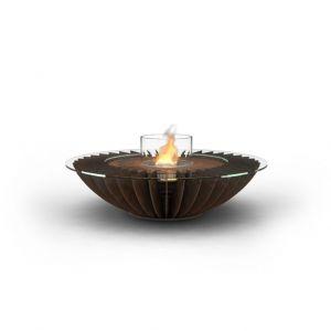 """Glammfire Cosmo - volně stojící biokrb v provedení """"zalakovaná rezavá ocel"""""""