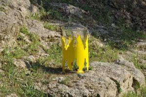 Glammfire Cronum - volně stojící bio krb - žlutá