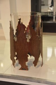 Glammfire Cronum - volně stojící bio krb - zalakovaná rezavá ocel