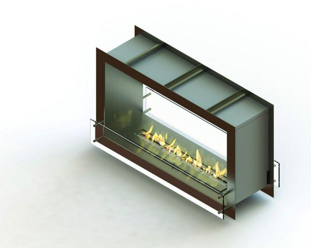 Glammfire GlammBox 1150 DF - vestavný biokrb, oboustranný