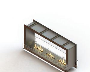 Glammfire GlammBox 1600 DF - vestavný biokrb, oboustranný