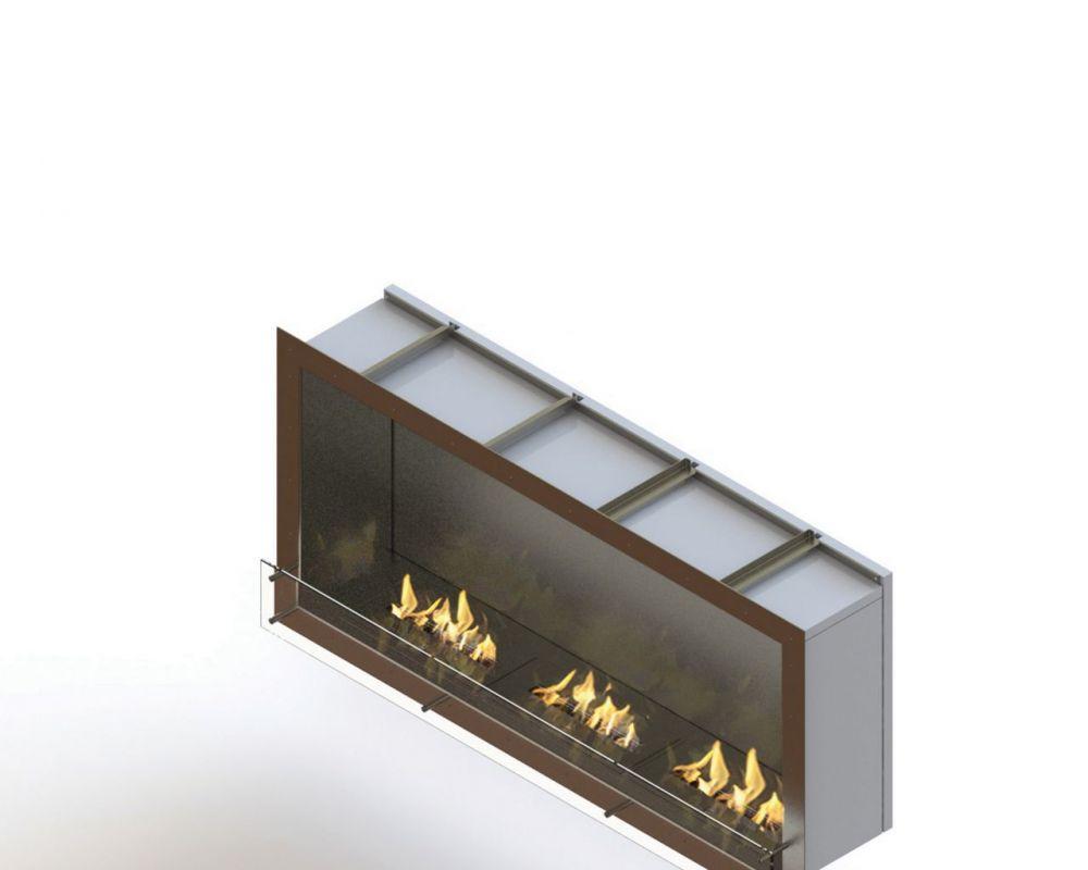Glammfire GlammBox 1600 - vestavný biokrb, jednostranný