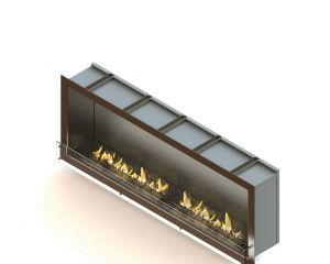Glammfire GlammBox 2150 - vestavný biokrb, jednostranný