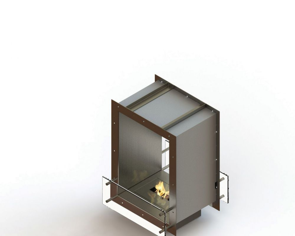 Glammfire GlammBox 420 DF - vestavný biokrb, oboustranný