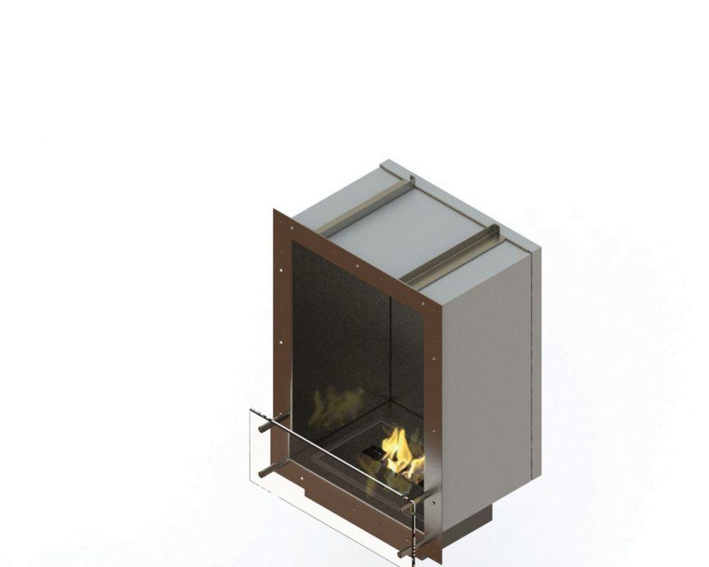 Glammfire GlammBox 420 - vestavný biokrb - jednostranný