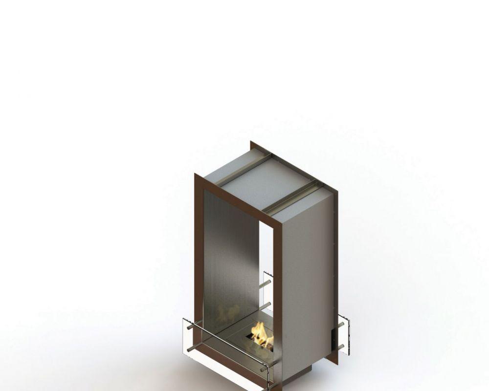 Glammfire GlammBox 450 DF - vestavný biokrb, oboustranný