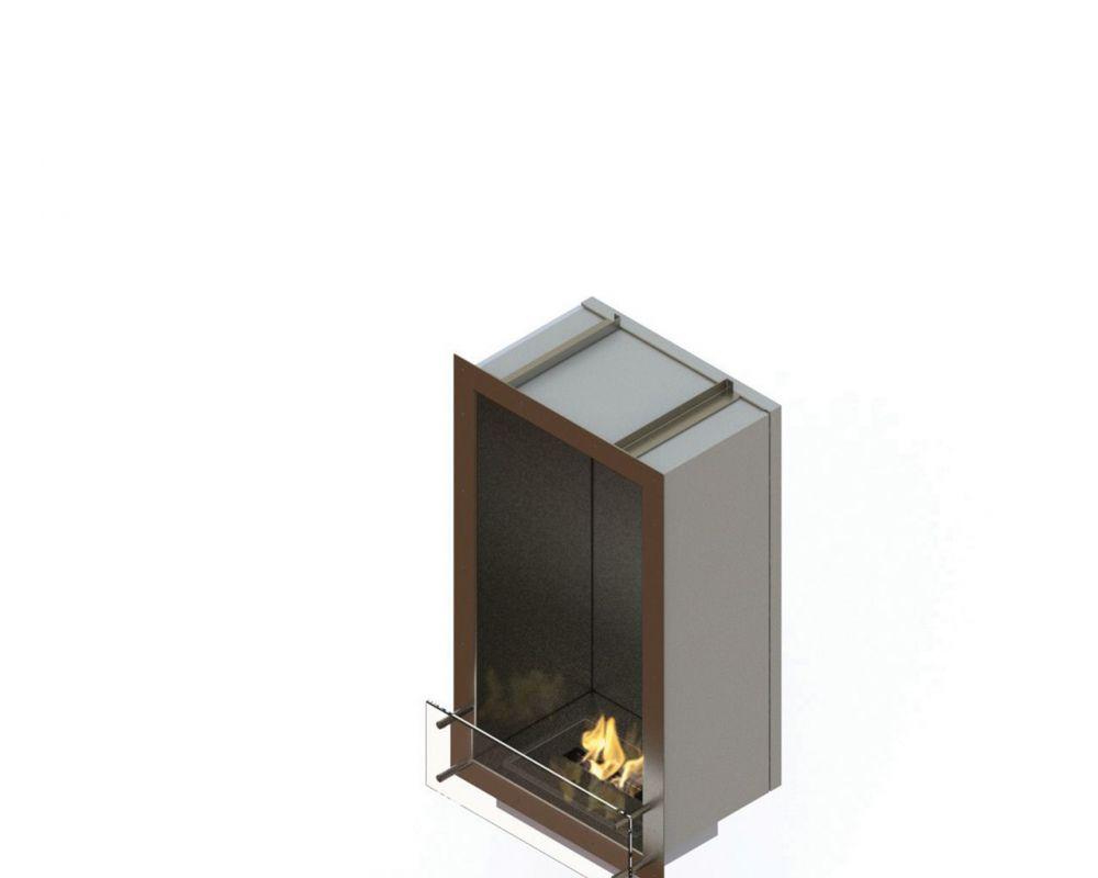 Glammfire GlammBox 450 - vestavný biokrb, jednostranný