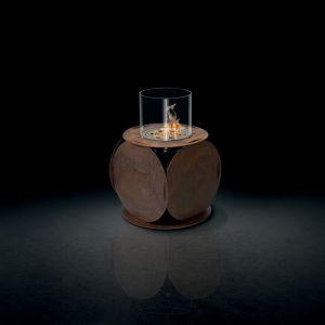 Glammfire Lira - volně stojící biokrb - zalakovaná rezavá ocel