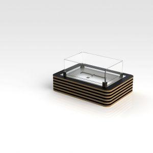 Glammfire Millwood - stolní biokrb - dubová hrana + černé lamely