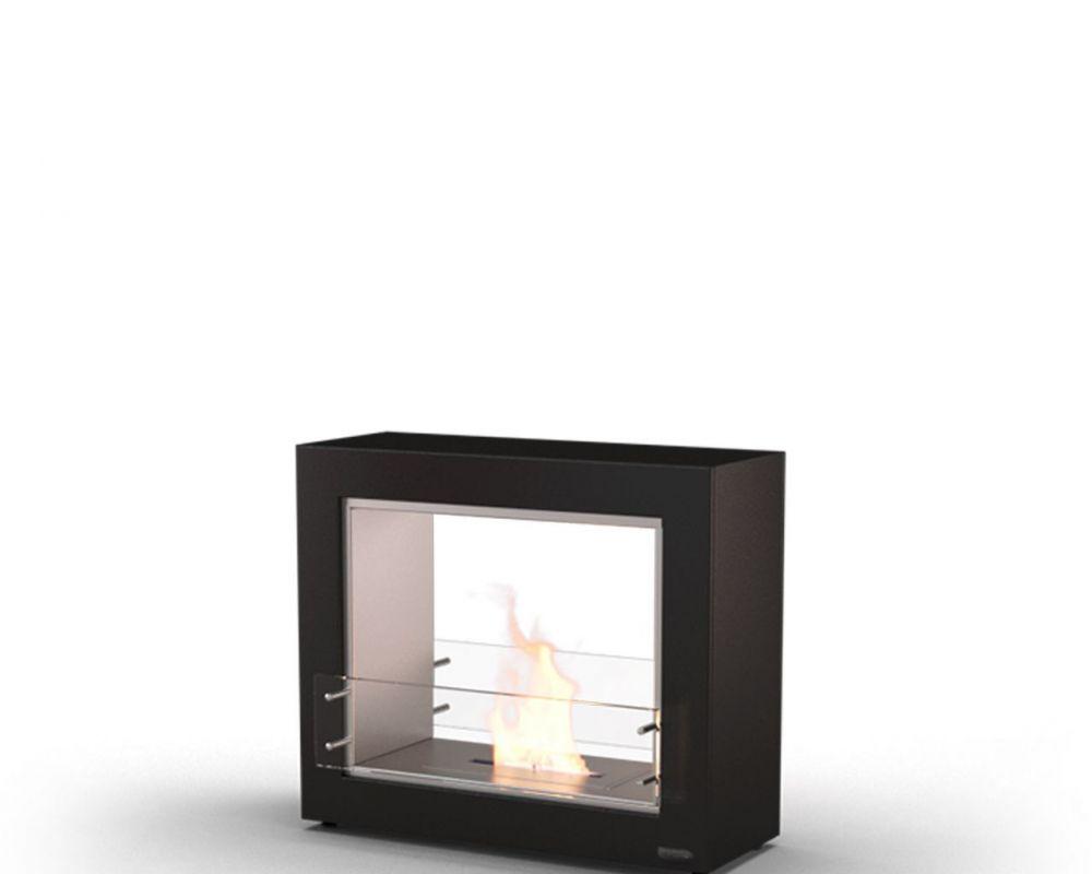 Glammfire Muble 1150 DF - volně stojící biokrb - oboustranný v černém provedení