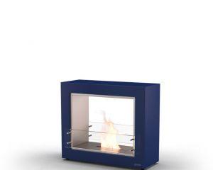 Glammfire Muble 1150 DF - volně stojící biokrb - oboustranný v modrém provedení