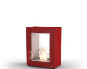 Glammfire Muble 700 DF - volně stojící biokrb - oboustranný, červený