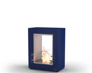 Glammfire Muble 700 DF - volně stojící biokrb - oboustranný, modrý