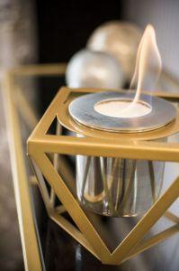 Glammfire Alqumia Tabletop - detail (zlatá) - stolní biokrb