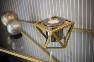 Glammfire Alqumia Tabletop, zlatá - stolní biokrb