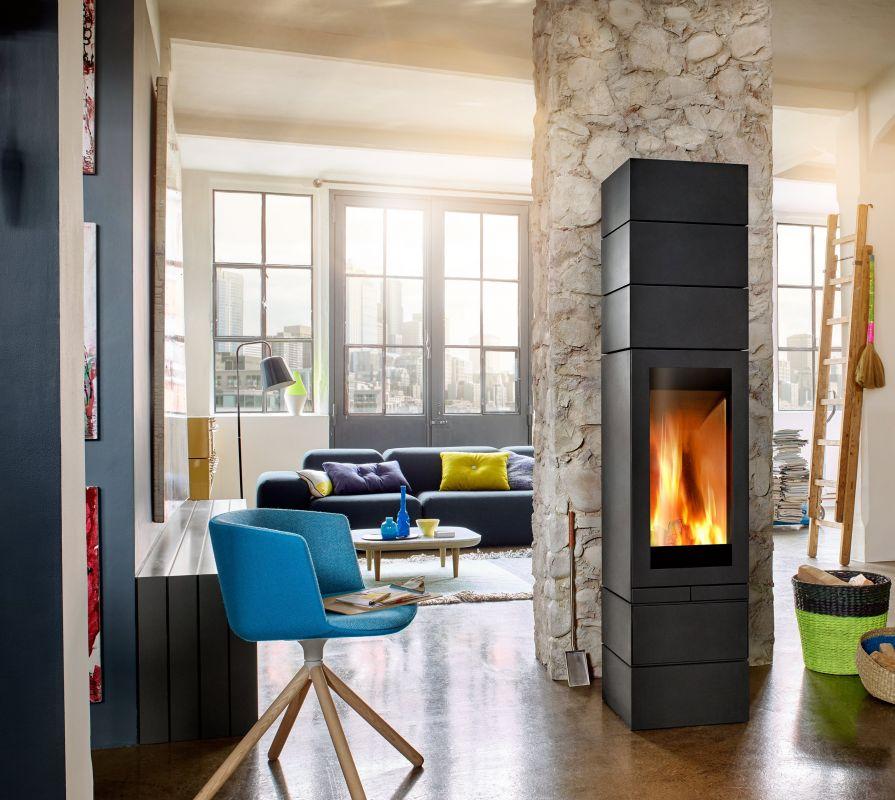 Skantherm Elements 400 front - moderní malá krbová kamna