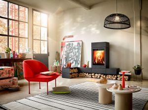 Skantherm Elements 603 front - moderní designová krbová kamna do 10kw