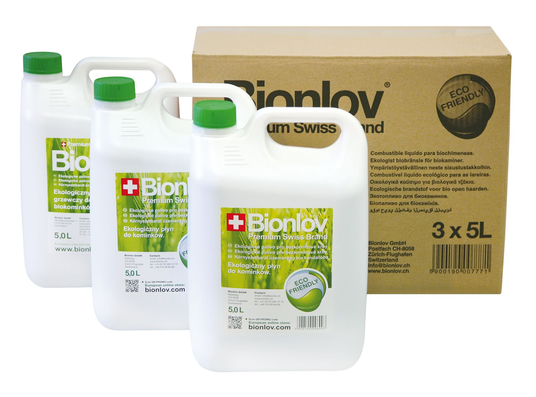 Biolíh - palivo do biokrbů - BIONLOV, výhodné balení 3 x 5L