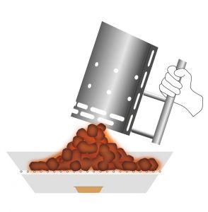 Höfats BBQ starter - podpalovací komín na uhlí