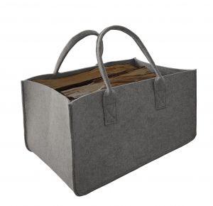 Filcová taška na dřevo, šedá