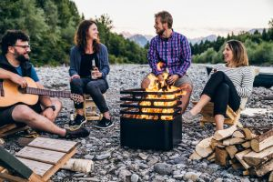Hoefats Cube Black - gril a ohniště