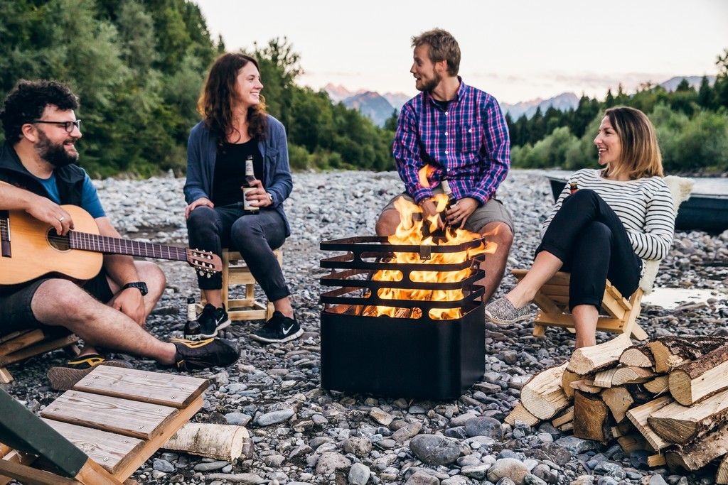 Höfats Cube Black - gril a ohniště
