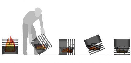 Princip uhašení zahradního grilu Hoefats Cube