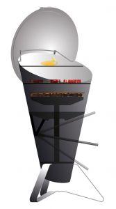 Zahradní designový gril Hoefats Cone