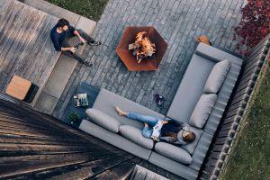 Hoefats Triple Ø 120 - designové zahradní přenosné ohniště