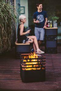 Hoefats Cube Black - POUŽITÝ - zahradní gril a ohniště Höfats