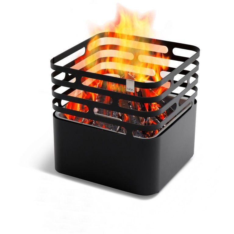 Kovové ohniště Höfats Cube Black přenosné