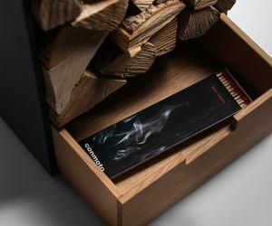 Conmoto Covo - dřevník se zásuvkou na zapalovací pomůcky
