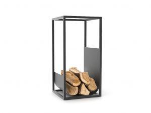 Conmoto Cube, černý - stojan na dřevo