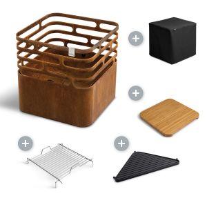 Höfats Cube Corten - corten gril a ohniště - VÝHODNÝ SET