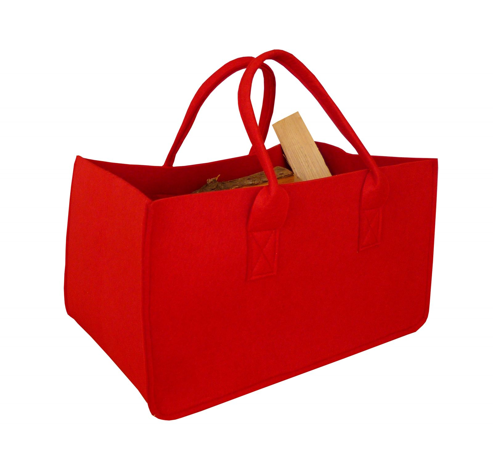 Filcová taška na dřevo, červená