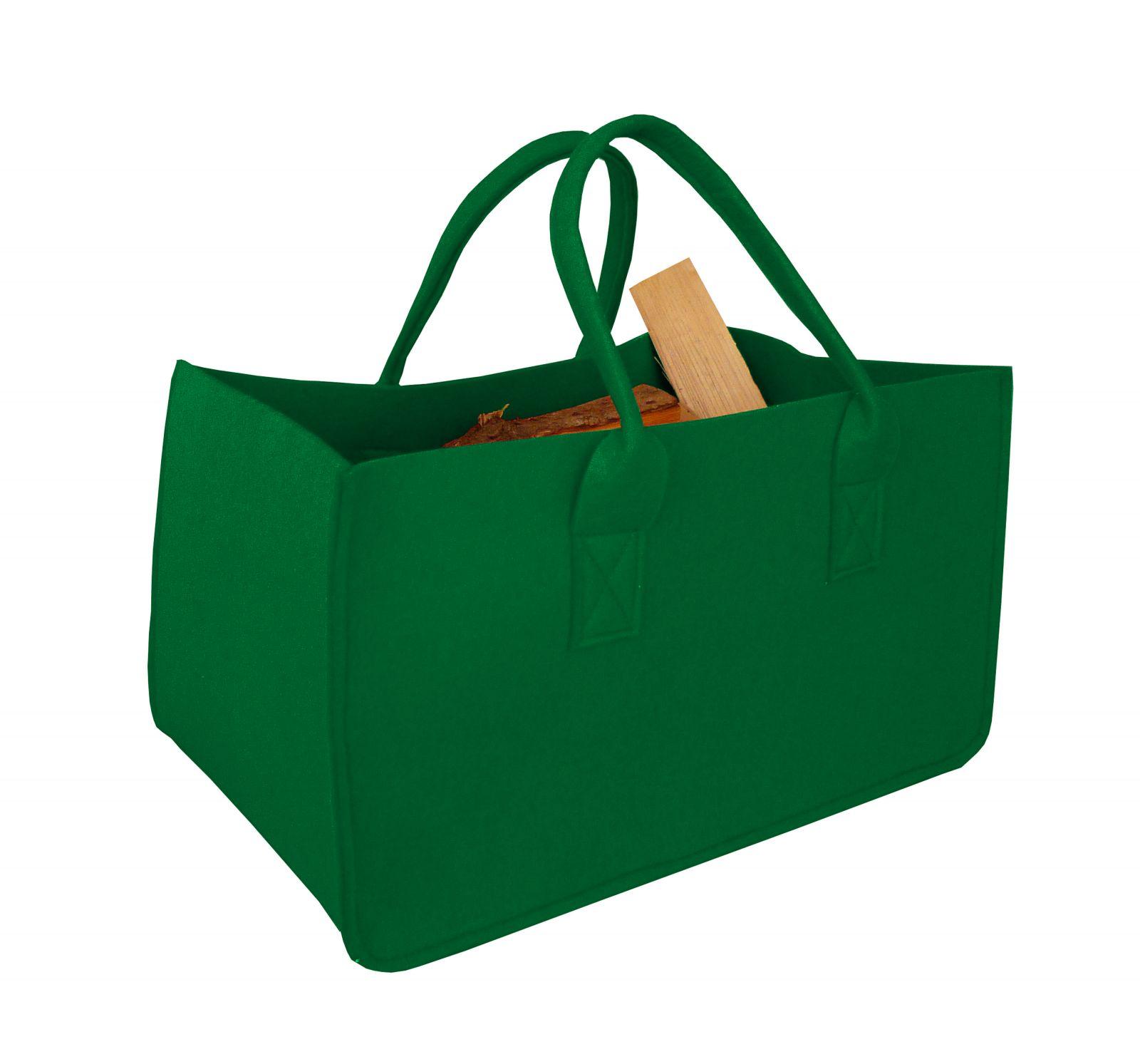 Filcová taška na dřevo, zelená