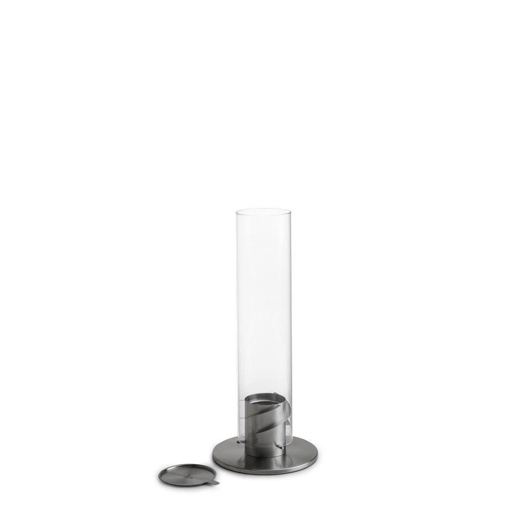 Höfats Spin 90, stříbrný - stolní biokrb se zhášedlem